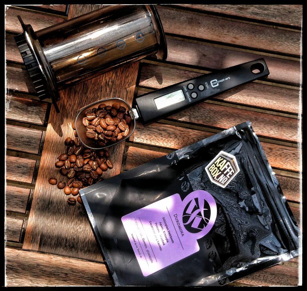 Fantastisk kaffe fra Norske Tim Wendelboe i juni måneds boks fra Kaffebox