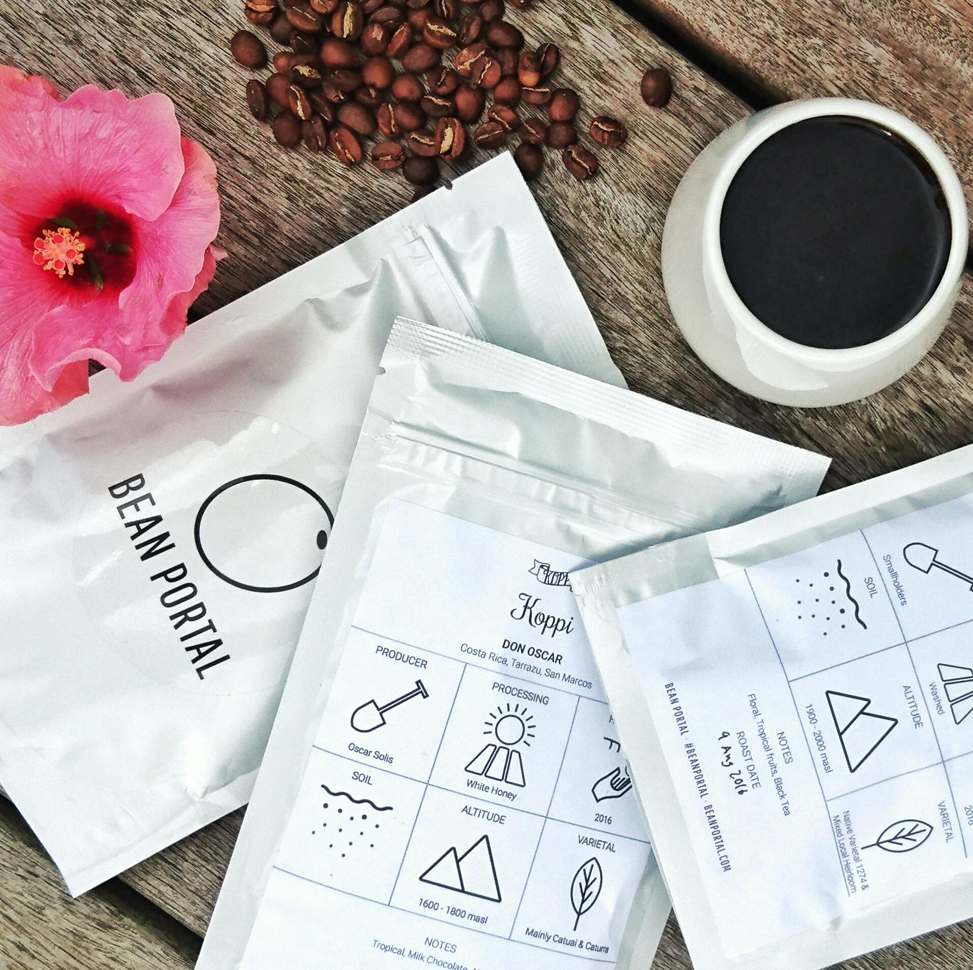 Svenske Koppi Fine Coffee Roasters, fra Helsingborg i august måneds Bean Portal tasting box.